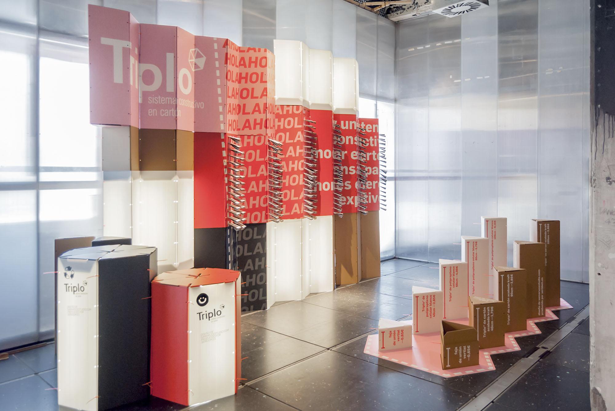 Proyecto de participación con sistema Triplo* en la exposición Love Cartón de Matadero Madrid DIMAD 2018