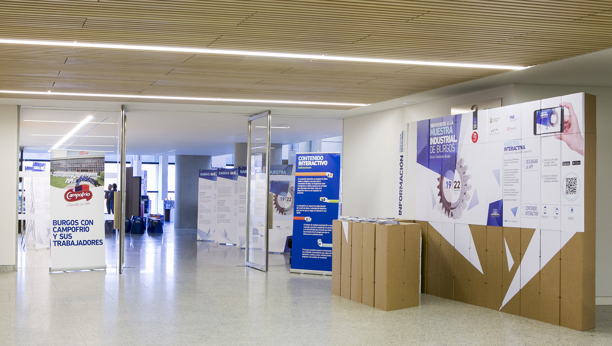 Muestra Industrial de Burgos 19/22 Noviembre 2014 Proyecto de Diseño y Gestión de o2studio Agencia de Publicidad con Sistema Constructivo en Cartón Triplo*