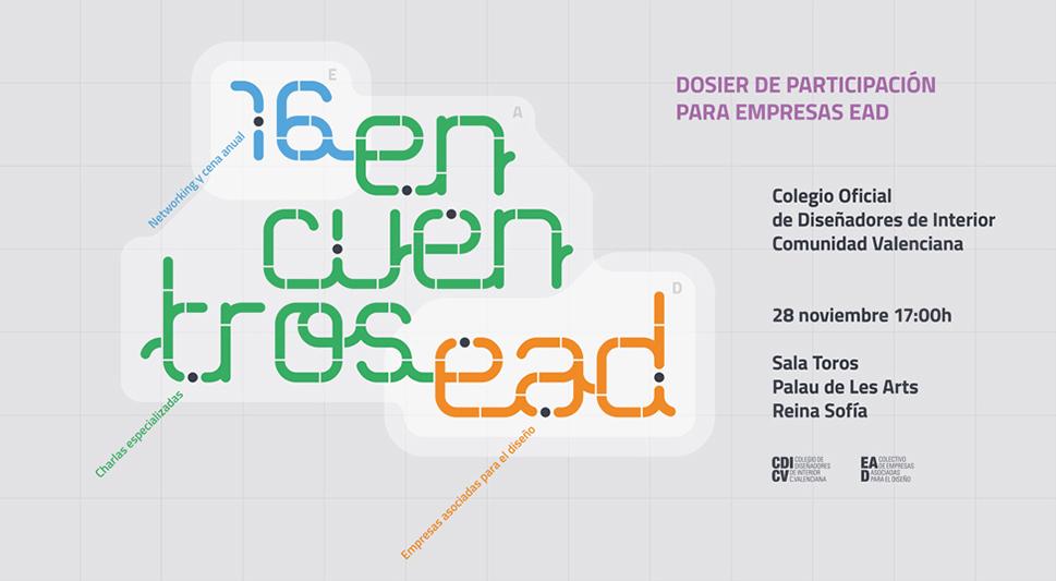 Evento, charlas y feria para el Encuentro de empresas EAD del Colegio de interioristas de Valencia Palau Les Arts