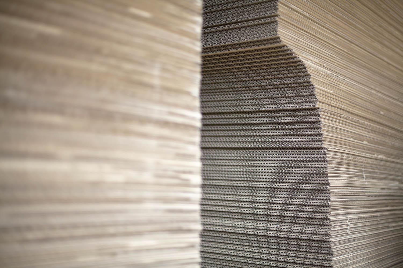 Triplo* cartón sistema constructivo montajes efímeros sostenibless