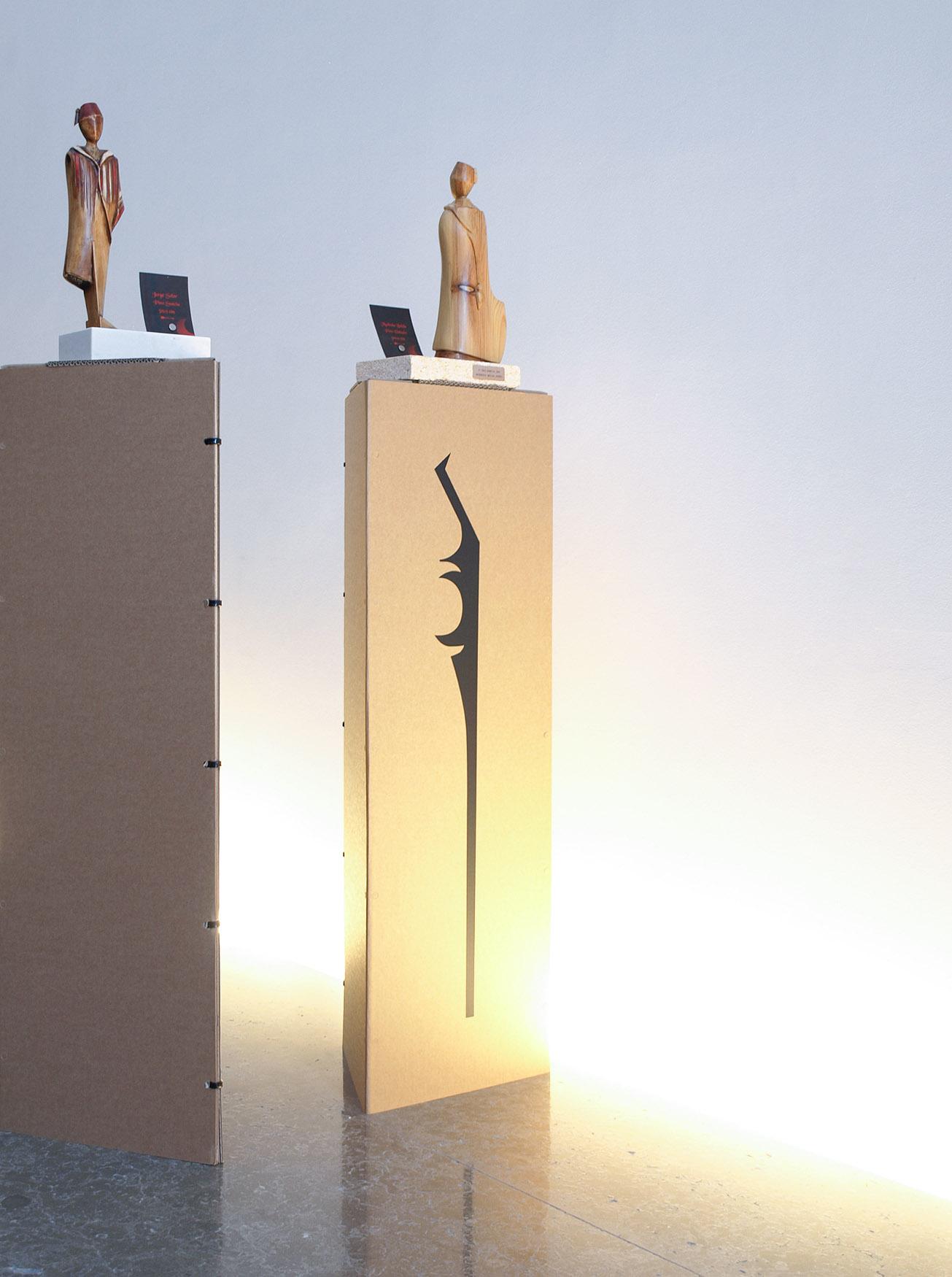 Proyecto de diseño de Rabacub para la exposición de esculturas en Ontinyent de Paco Mullor