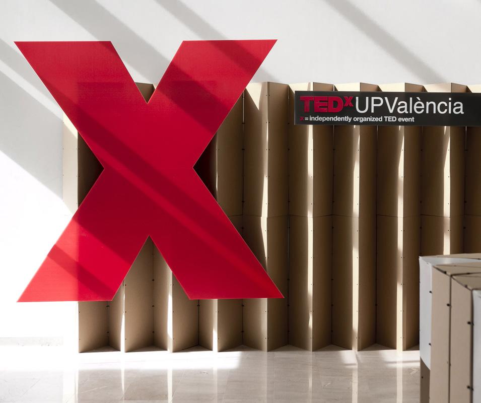 TEDx UPV Valencia diseño efímero photocall conferencias