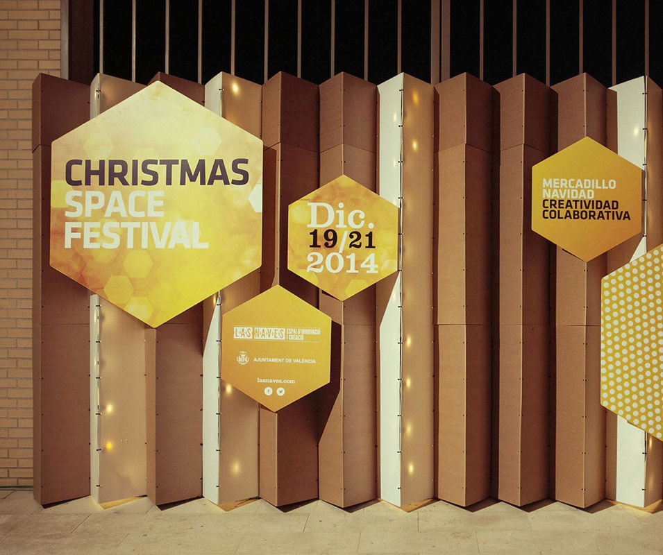 Evento market christmas festival Las Naves Triplo* kraft ecology